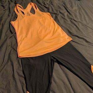 Orange and Gray Workout Set